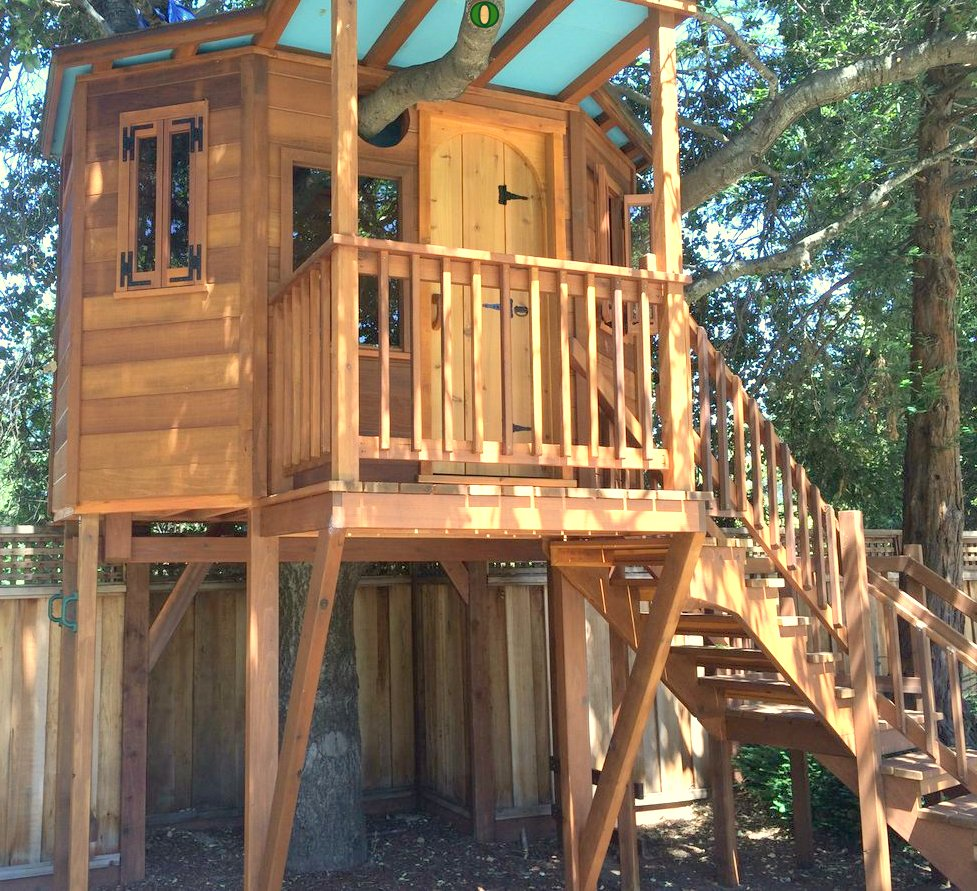 Redwood Treehouse organic design by John Lionheart