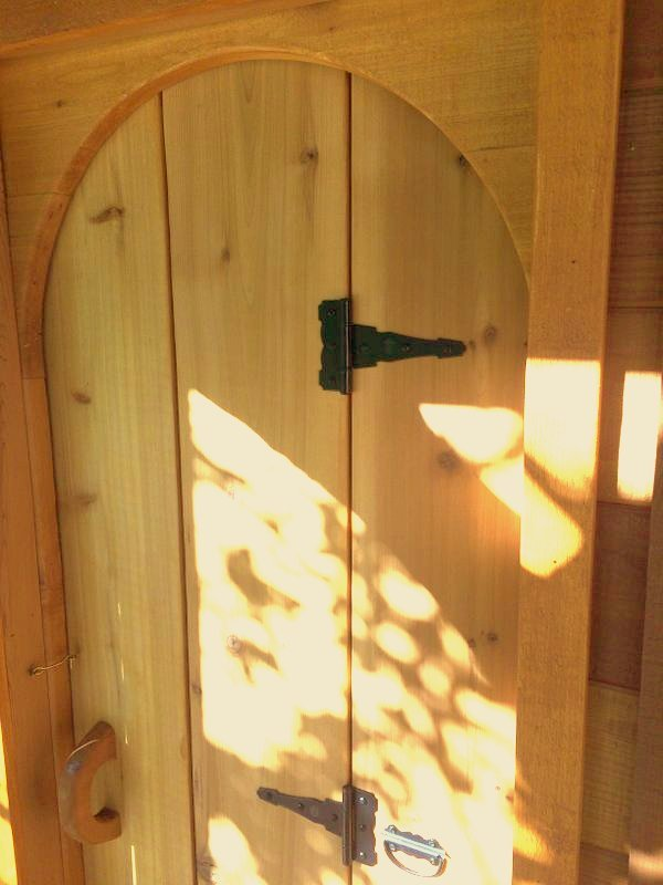 Custom Arched Tri-fold Treehouse Door