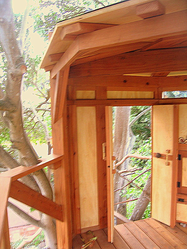 Kate tree yurt left side