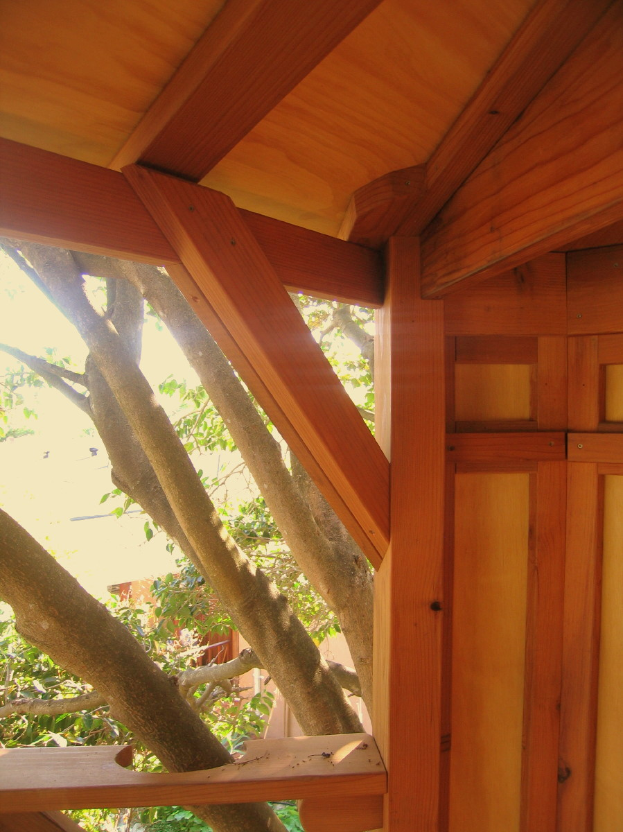 Tree yurt treehouse, view 16