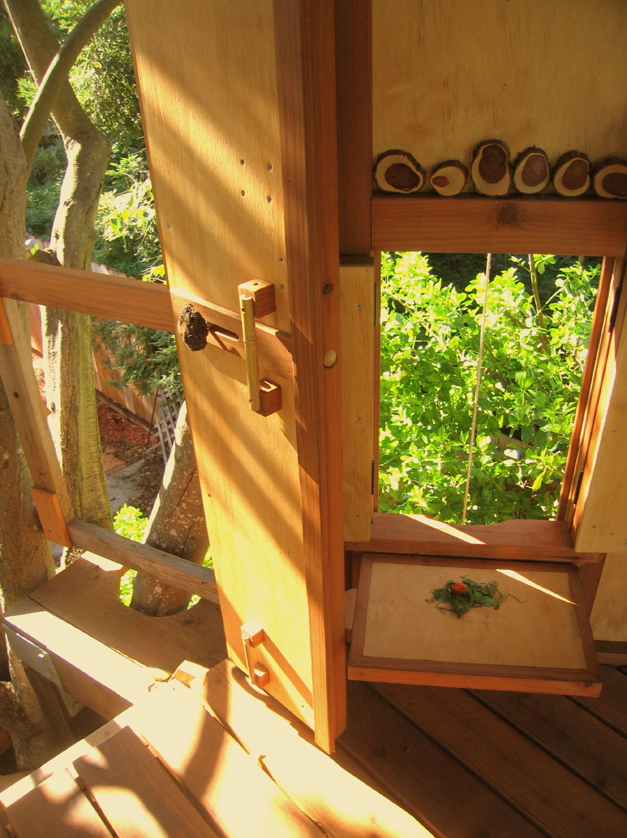 Tree yurt treehouse, view 23