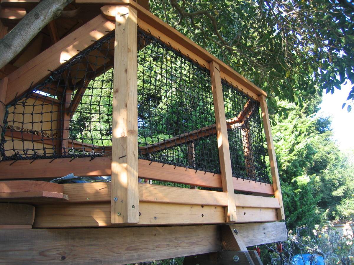 Tree yurt net railings