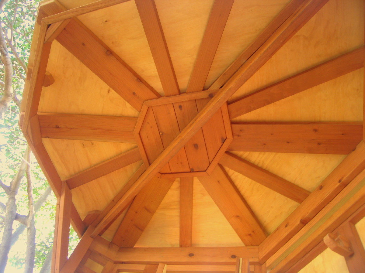 Treehouse Tree Yurt ceiling detail, view 4