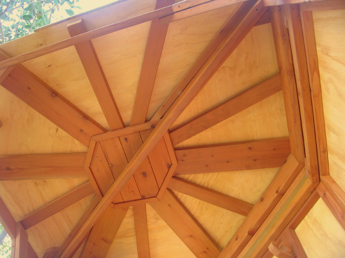 Redwood Tree Yurt ceiling detail, view 2