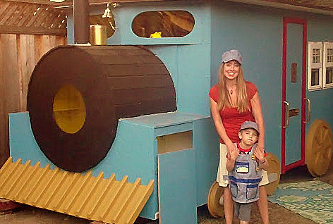 Asher's Wish train playhouse
