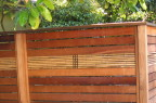 excellent construction, redwood and bamboo fence. Hilldale Avenue