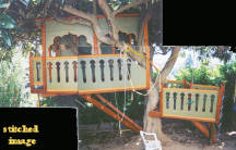 Side view of Taj Mahal treehouse