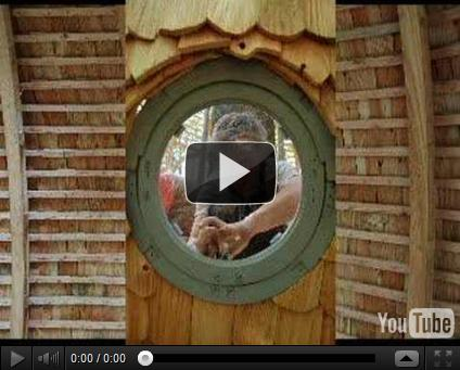 Sherical treehouse construction video