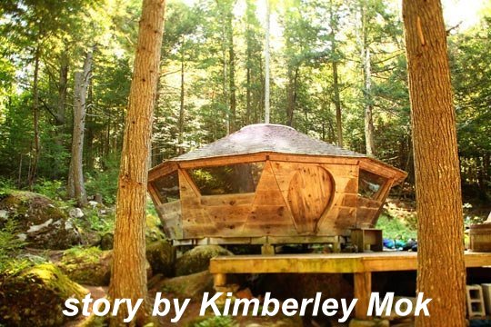 A Wooden Yurt Rises In The Adirondacks